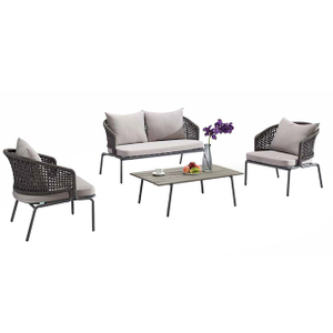 Birdies New Model Wholesale Aluminium Rope Outdoor Furniture Garden Sofa Set