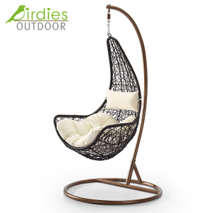 Birdies Factory Off Egg Design Portable Indoor Rattan Patio Swing Chair