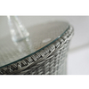 Hotel Rattan Woven Table With Tempered Glass Top Home General Use Garden Outdoor Chair Furniture