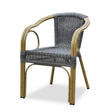 Outdoor Round Aluminium Metal Plastic Rattan Wicker Garden Chair