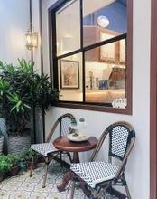 Bistro Vintage Aluminium Outdoor Furniture Flower Dining Garden Rattan Chair