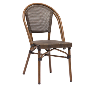 Modern Comfy Metal Folding Outdoor Aluminum Bistro Chairs