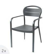 Cruise Ship Dining Restaurant Stackable Aluminium Outdoor Arm Chair