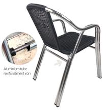Outdoor Beach Hotel Cafe Aluminum Round Wicker Chair