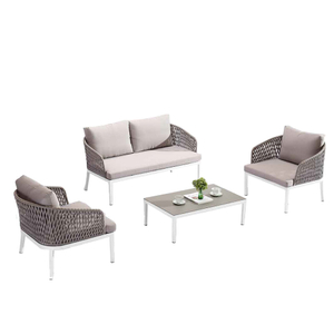Outdoor Small Patio Metal Wicker Sectional Couch Sofa Sale