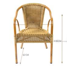 Outdoor Bamboo Aluminium Rattan Garden Flower Chair
