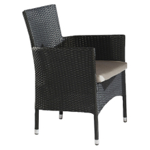 Bistro Outdoor Garden Plastic Round Wicker Dining Chairs