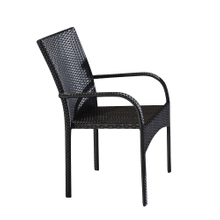 Outdoor Comfortable Stackable Plastic Wicker Dining Chairs
