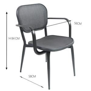 Fabric Furniture Garden Aluminium Mesh Outdoor Chair