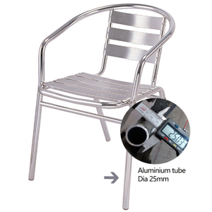 Outdoor Garden Chairs Modern Frame Cafe Aluminium Chair