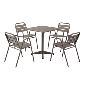 Modern Outdoor Bistro Aluminum Patio Furniture Set