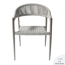 Outdoor Dining Restaurant Aluminium Rope Chair