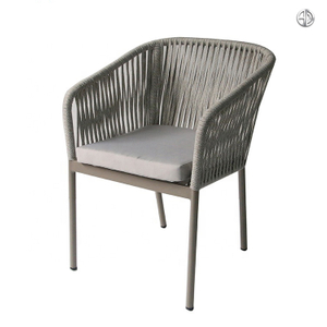 Coffee Shop Modern Restaurant Hotel Aluminum Rope Chair
