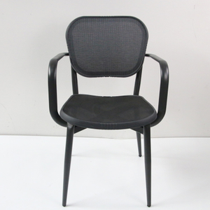 Aluminium Outdoor Restaurant Textilene Arm Chair Manufacturer