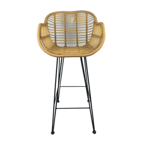Outdoor Restaurant Metal Rattan Bar Stool Chair Manufacturer
