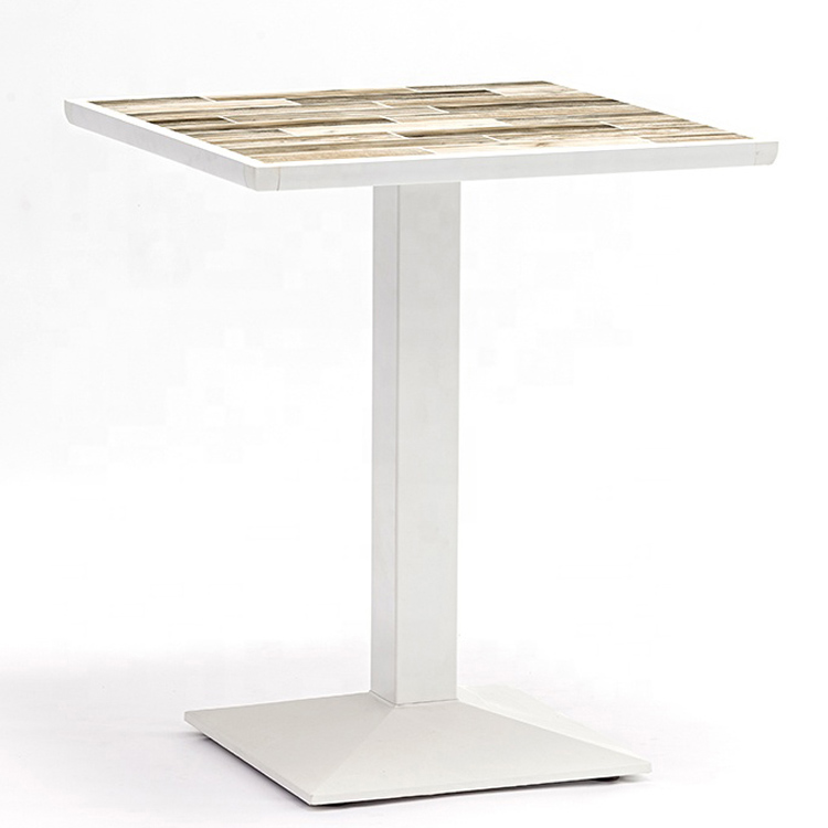 Patio Furniture Manufacturer Design Ceramic Tile Top Dining Table