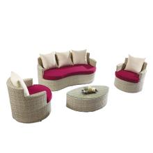 Cheap Small 2 Seater Rattan Garden Corner Sofa Set Sale